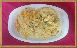 Fideos de arroz con verduras